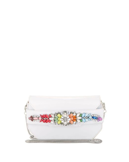 Steve Madden - White Pauline Embellished Convertible Clutch - Lyst