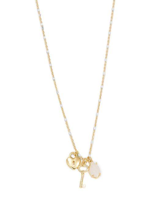 Tai - White Lock And Key Stone Pendant Necklace - Lyst