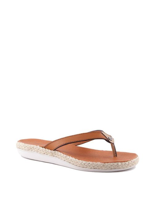 89fbcab13 Tommy Bahama - White Ionna Leather Sandals - Lyst ...