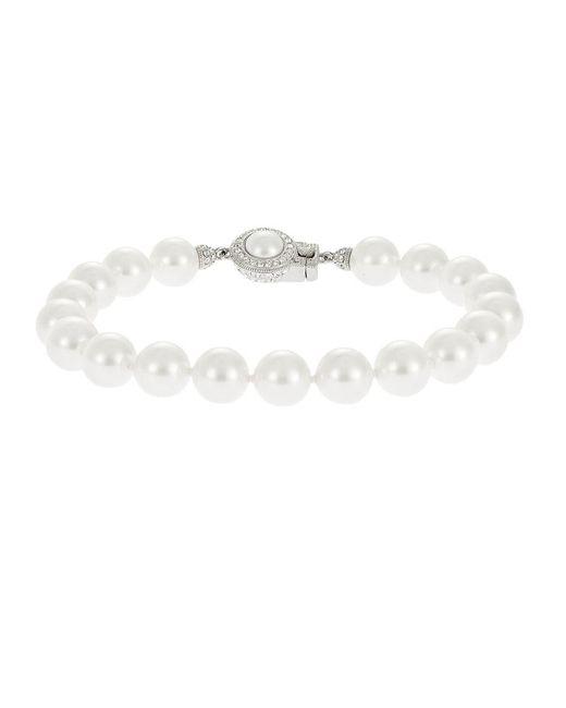 Nadri - Metallic Faux Pearl Bracelet - Lyst