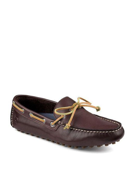 Sperry Top-Sider - Brown Hamilton Leather Driver Moccasins for Men - Lyst