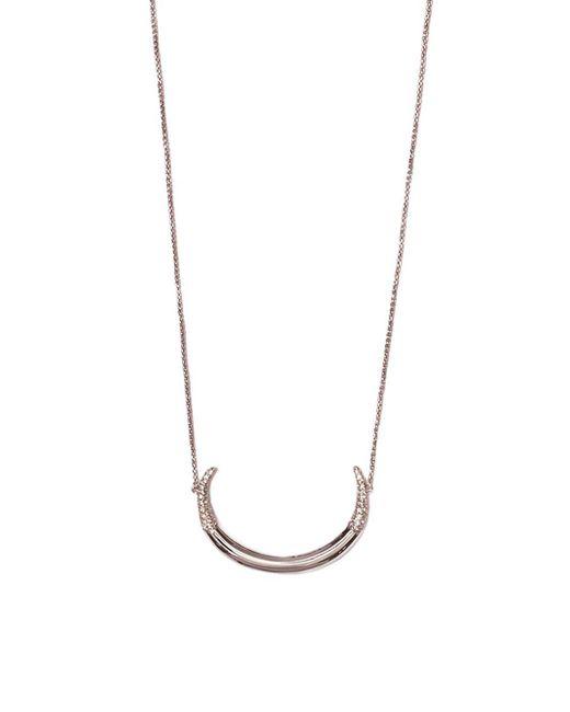 Vince Camuto - Metallic Silvertone & Crystal Crescent Pendant Necklace - Lyst