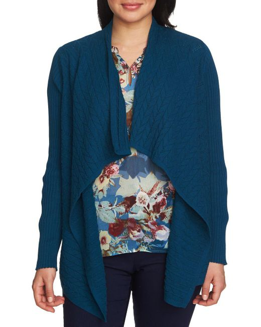 Chaus - Blue Vintage Garden Long Sleeve Novelty Stitch Cardigan - Lyst