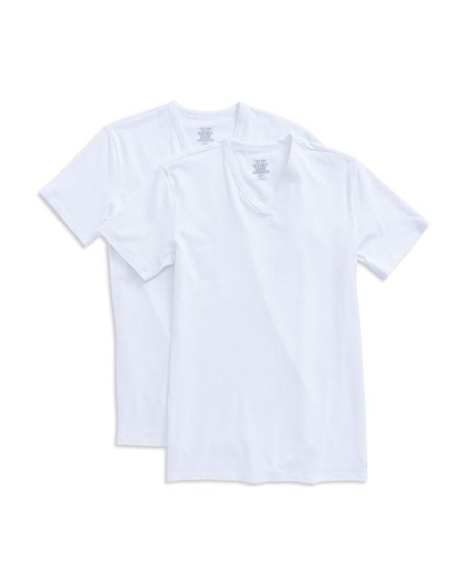 CALVIN KLEIN 205W39NYC - White 2-pack Stretch Cotton Tee for Men - Lyst