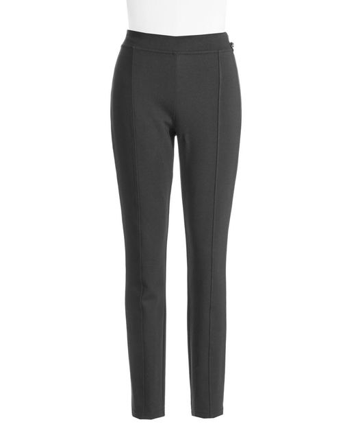 CALVIN KLEIN 205W39NYC - Black Seam-detail Stretch Pants - Lyst