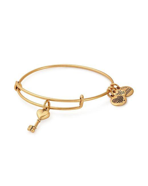ALEX AND ANI - Metallic Key To Love Charm Bangle Bracelet - Lyst