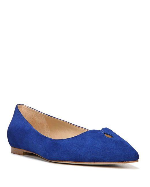 Sam Edelman - Blue Ruby Suede Point Toe Flats - Lyst