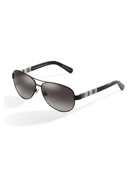 Kate Spade - Black Dalias 58mm Aviator Sunglasses - Lyst