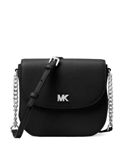 MICHAEL Michael Kors - Black Half Dome Leather Crossbody Bag - Lyst