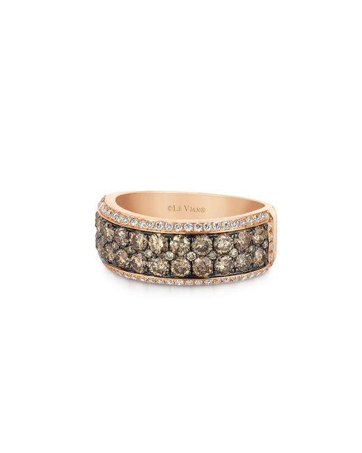 Le Vian - Metallic Chocolatier Diamond And 14k Strawberry Gold Ring - Lyst