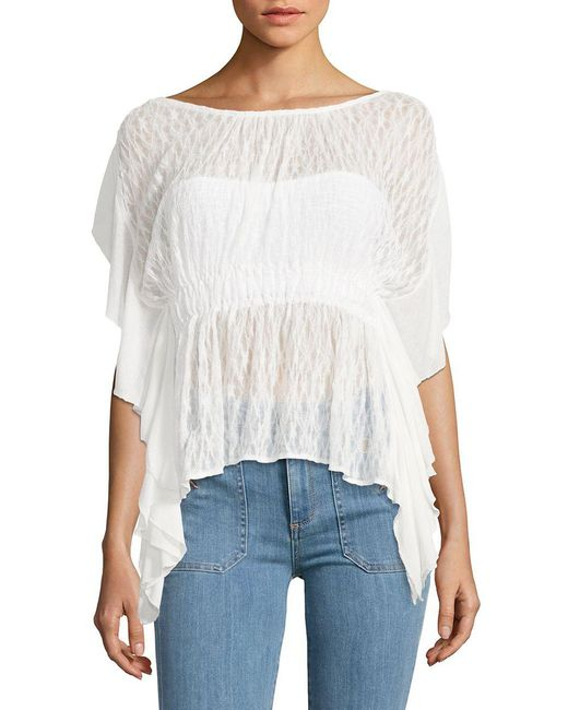 Free People - White June Knit Top - Lyst