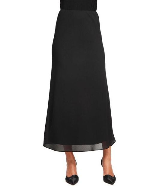 Alex Evenings | Black Georgette A Line Skirt | Lyst