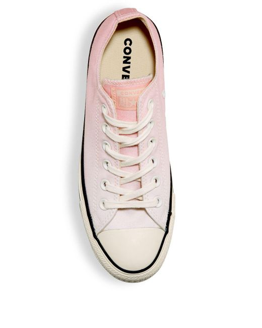941c4a18ecd5 ... Converse - Pink All Star Ox Low-top Sneakers - Lyst