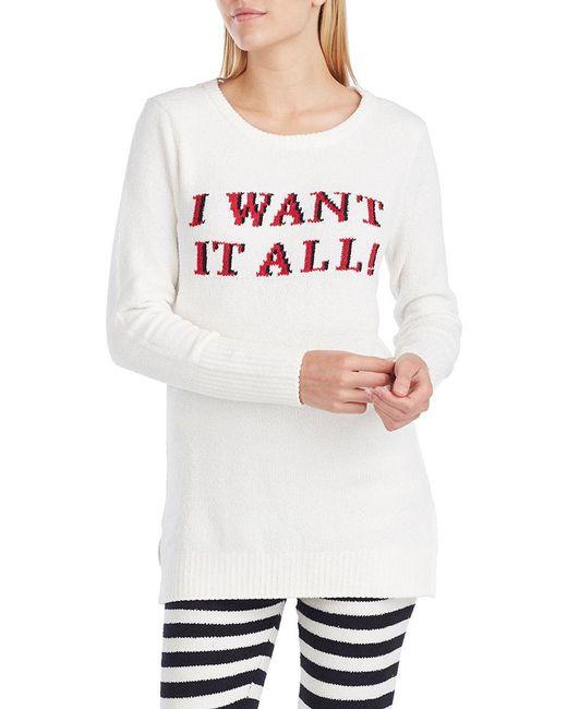 Betsey Johnson - White Plush Fleece Tunic - Lyst