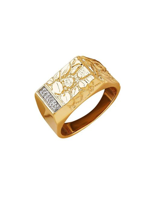 Lord & Taylor - Metallic 14k Yellow Gold And Rhodium Diamond Ring - Lyst