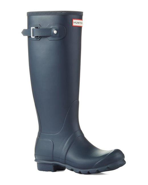 Hunter - Blue Original Tall Matte Rain Boots - Lyst