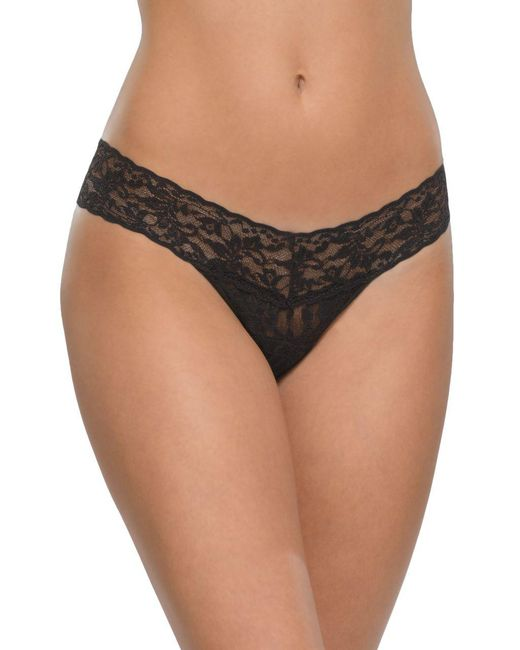 Hanky Panky - Black Low Rise Hipster Thong - Lyst