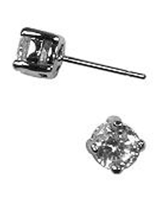 Givenchy Metallic Silvertone And Cubic Zirconia Stud Earrings