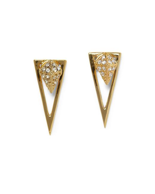 Vince Camuto - Metallic Crystal Pave Pyramid Dangle & Drop Earrings - Lyst