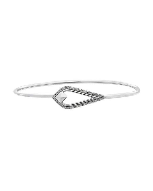Lord & Taylor - Metallic Diamond And Sterling Silver Bangle Bracelet - Lyst