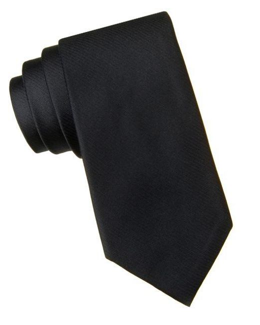 Calvin Klein - Black Slim Fit King Cord Ii Silk Tie for Men - Lyst