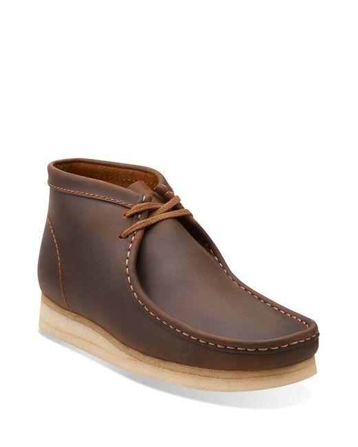 Clarks - Brown Wallabee Nubuck Chukka Boots for Men - Lyst