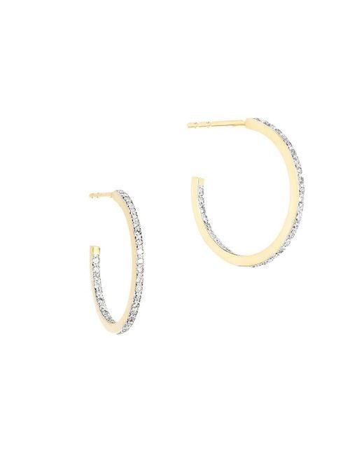 Adina Reyter Metallic 14k Yellow Gold & 0.21 Tcw Diamond Small Pave Hoop Earrings