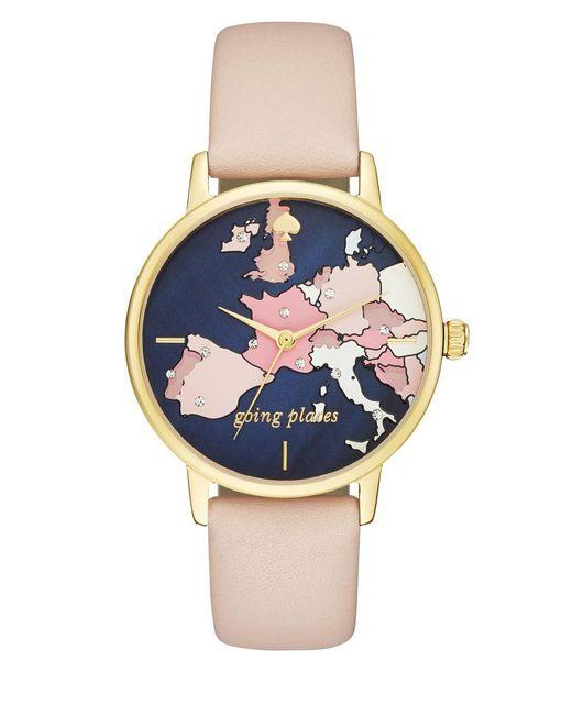 0182c7ef0dd Kate Spade - Natural Rose Goldtone Stainless Steel Bracelet Watch - Lyst ...