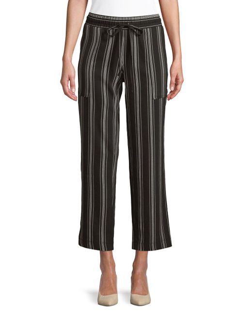 Jones New York - Black Drawstring Capri Pants - Lyst