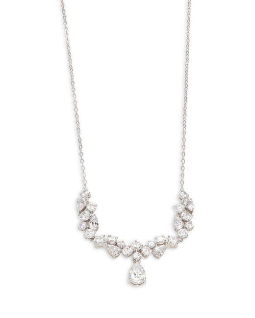 Nadri - Metallic Cubic Zirconia Statement Necklace - Lyst