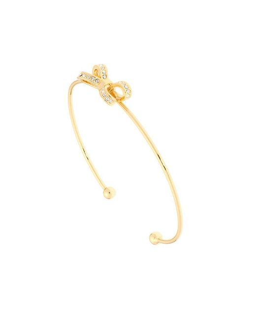 Ted Baker | Metallic Opulent Pave Bow Crystal Olexii Cuff Bracelet | Lyst