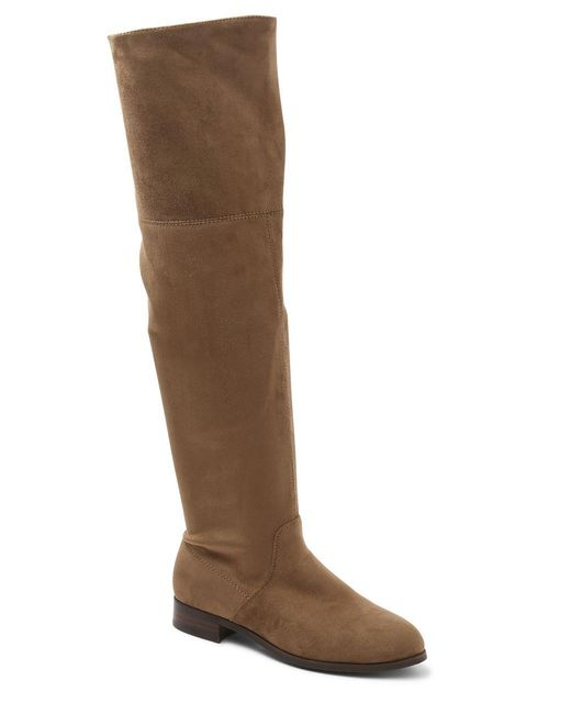 Kensie - Brown Talicia Microsuede Over-the-knee Boots - Lyst