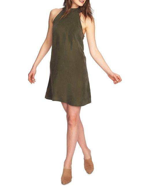 1.STATE - Green April Mockneck Shift Dress - Lyst