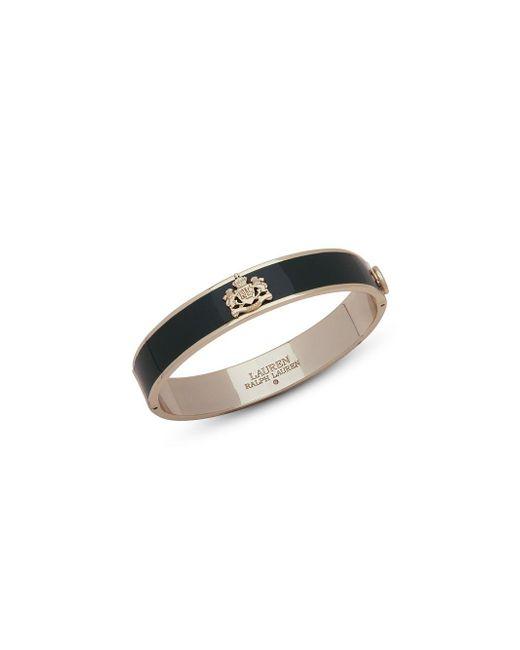 Ralph Lauren - Green Logo Crest Bangle Bracelet - Lyst