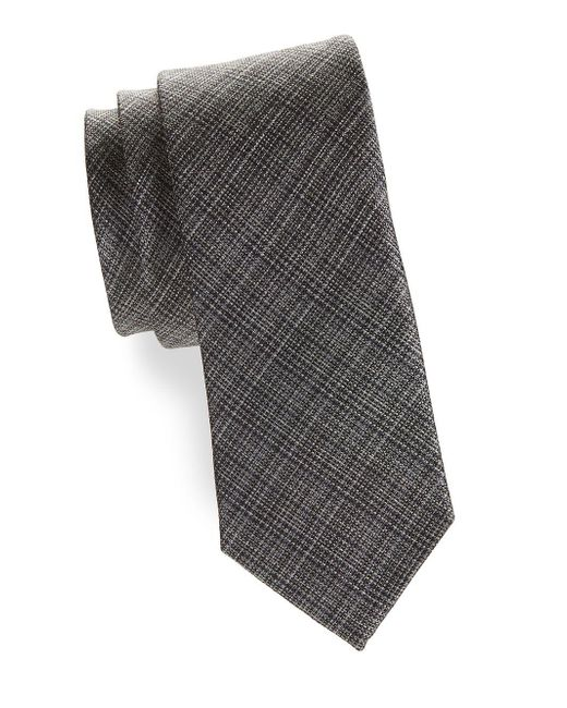 Tallia Orange - Black Classic Textured Tie for Men - Lyst