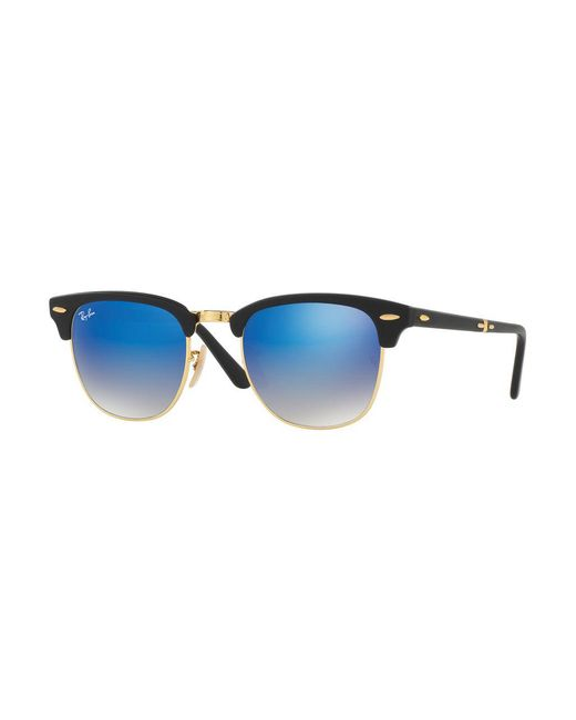 Ray-Ban - Blue Foldable Clubmaster® Flash Sunglasses - Lyst