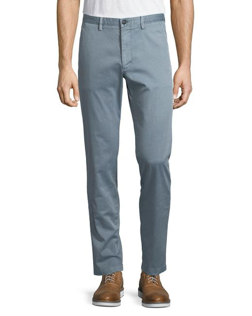 BOSS - Blue Kaito Twill Chino Pants for Men - Lyst