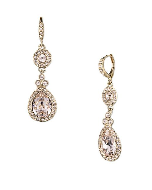 Givenchy - Metallic Wingate Crystal Drop Earrings - Lyst