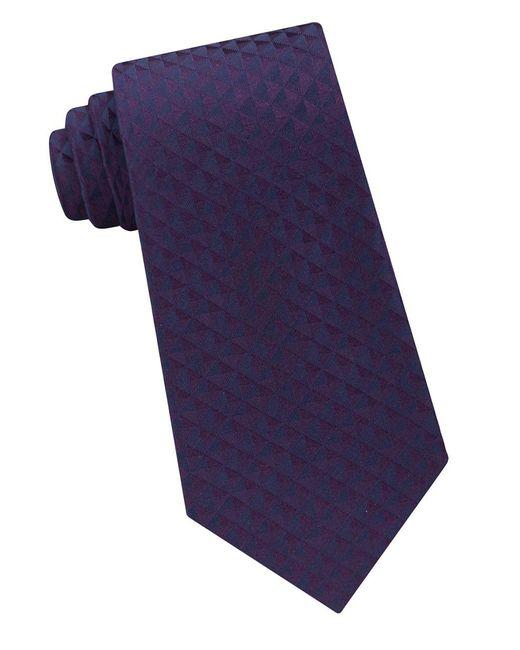 CALVIN KLEIN 205W39NYC - Purple Optic Geo Silk Tie for Men - Lyst
