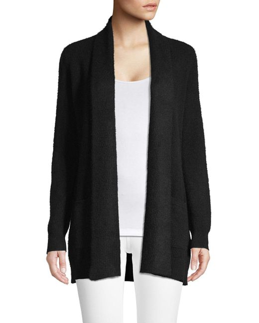 Lord & Taylor Black Petite Cashmere Open-front Cardigan