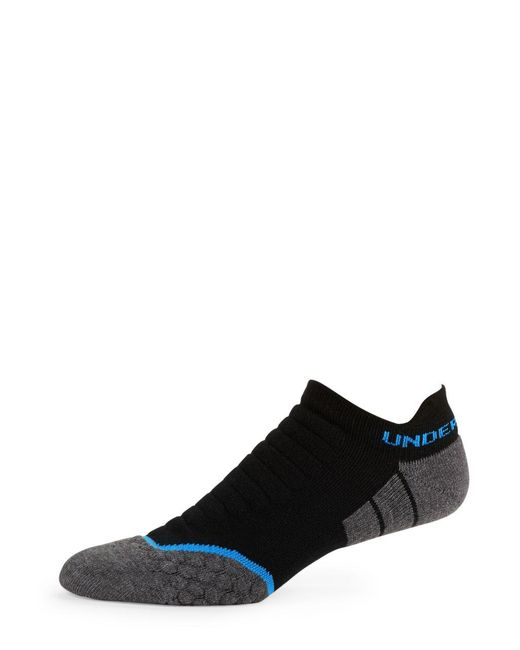 Under Armour | Black Cool Max No Show Tab Socks for Men | Lyst