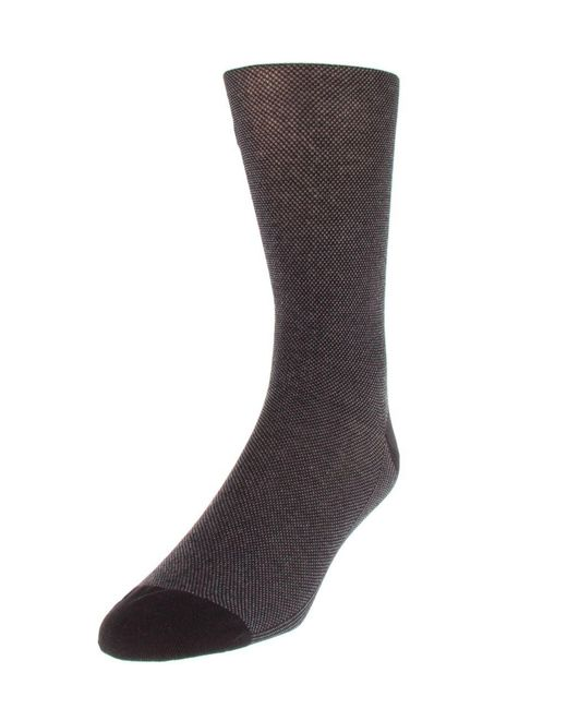 Cole Haan - Black Dotted Crew Socks for Men - Lyst