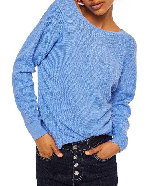 Mango - Blue Nudoso Jersey Sweater - Lyst