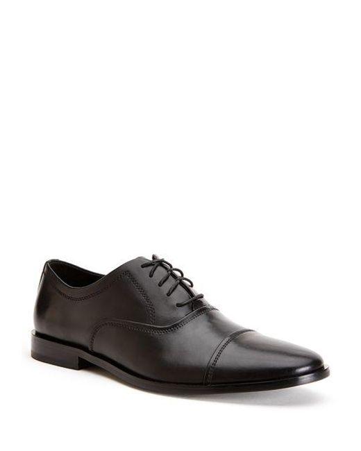 CALVIN KLEIN 205W39NYC - Black Nino Leather Oxfords for Men - Lyst