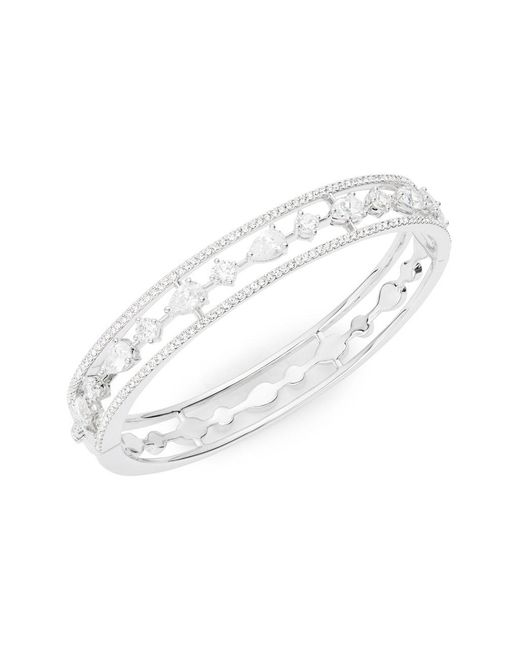 Nadri - Metallic Cubic Zirconia Bangle Bracelet - Lyst