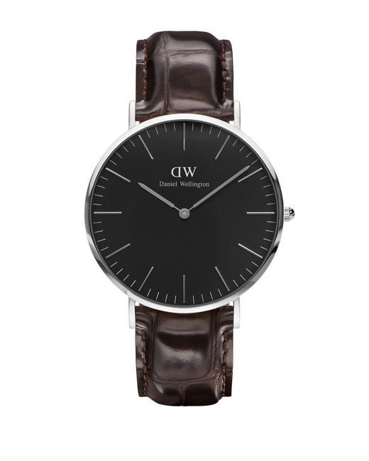 Daniel Wellington - Classic Black York Stilvertone And Leather Strap Watch - Lyst