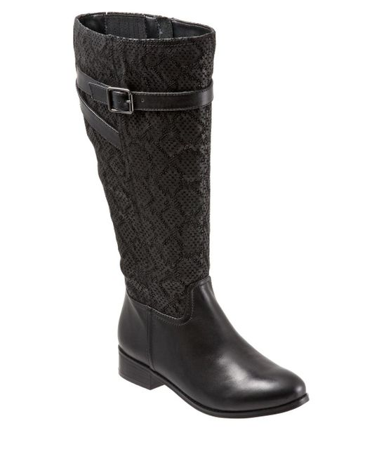 Trotters - Black Lyra Leather Riding Boots - Lyst