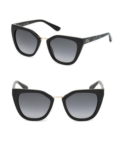 700c81b8f8f09 Lyst - Guess 52mm Butterfly Sunglasses in Black