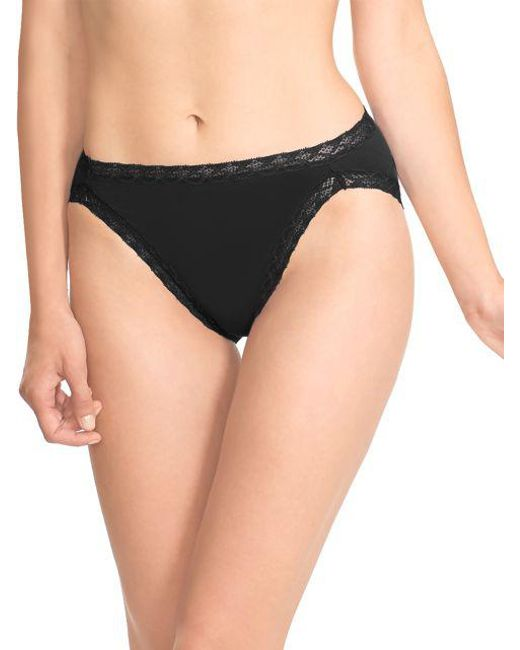 Natori - Black Bliss French Cut Briefs - Lyst
