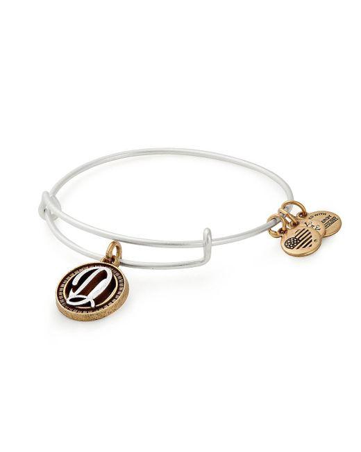 ALEX AND ANI - Metallic Initial Charm Bracelet - Lyst